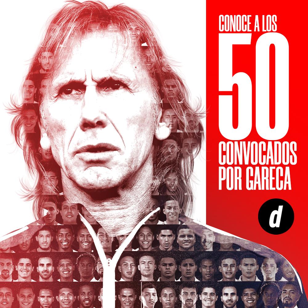 Los 50 convocados por Gareca