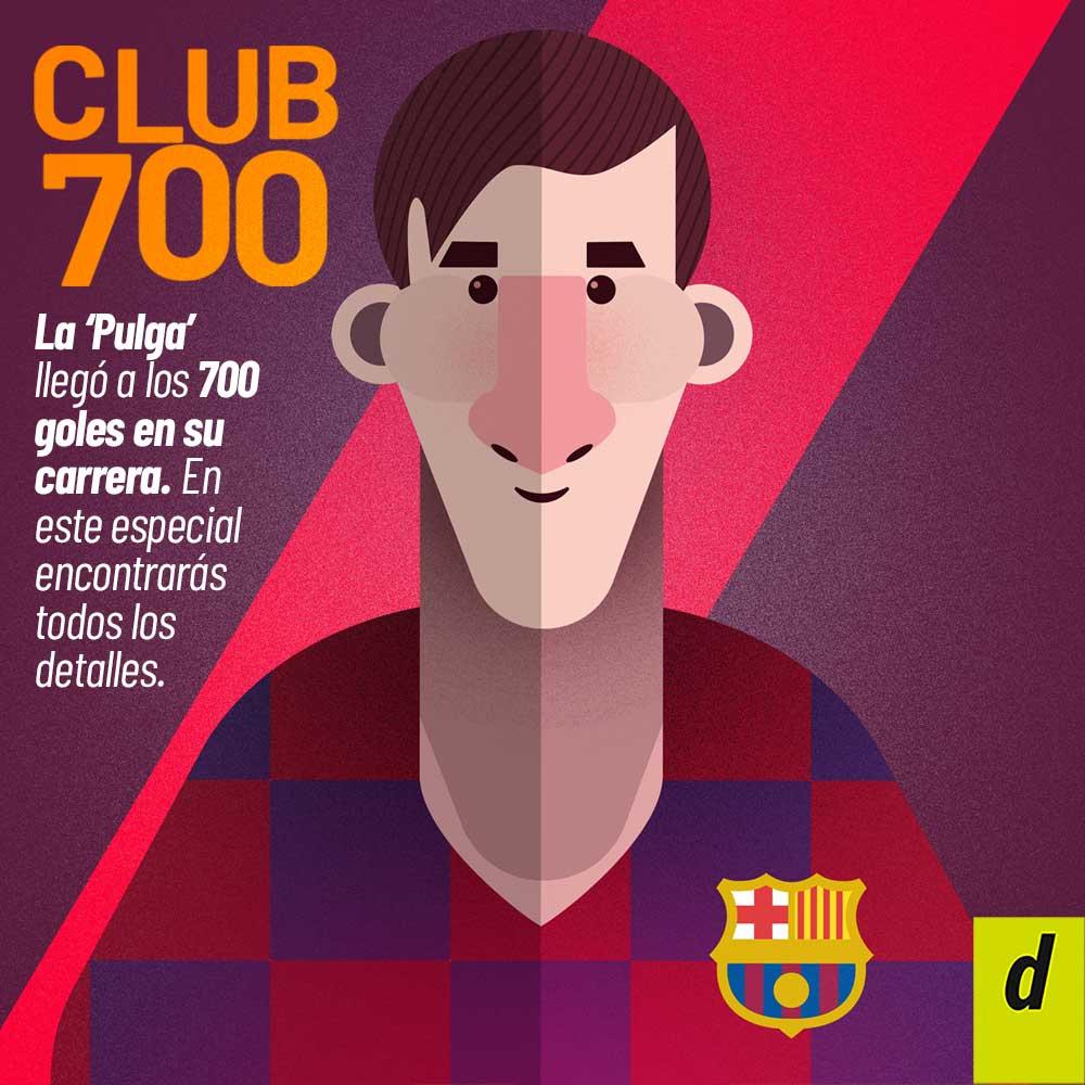 Messi 700 goles