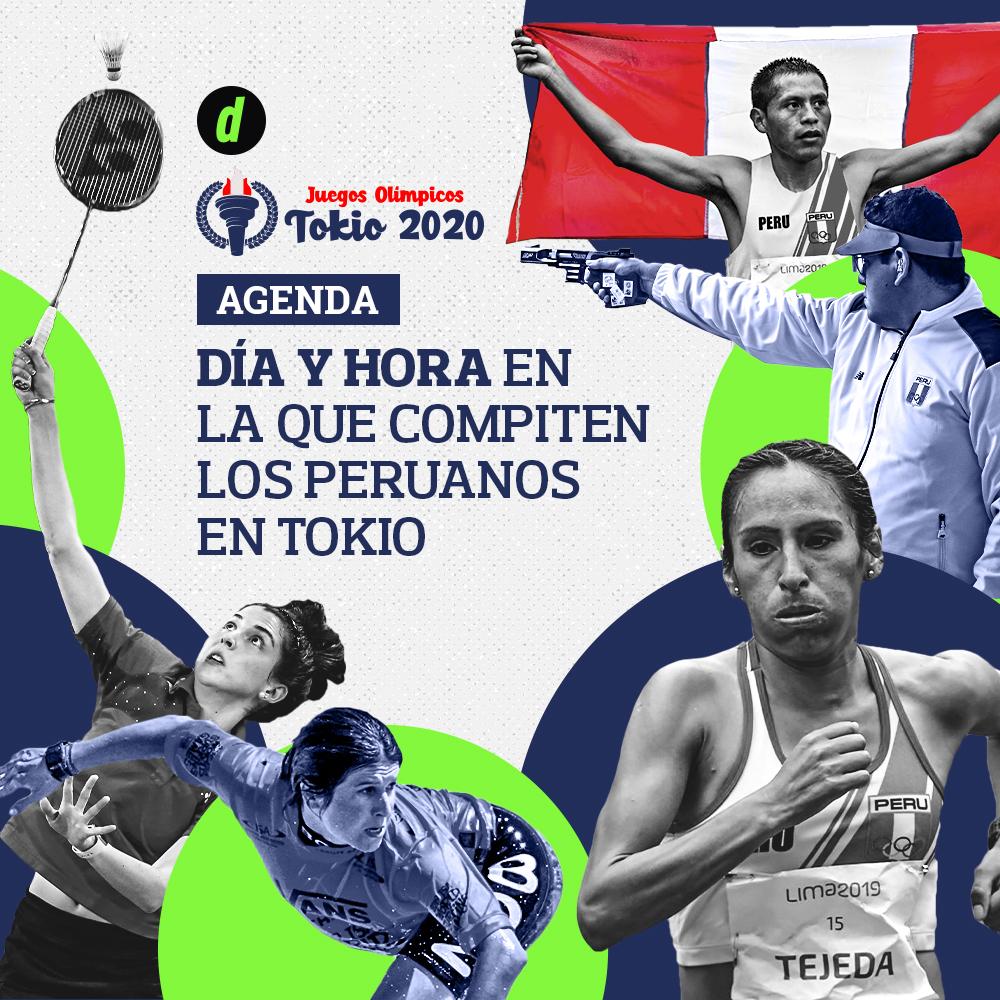 Fixture Tokio 2020: ¿Cuándo y dónde compiten los peruanos en los Juegos Olímpicos? | Calendario, día, horarios, sedes | Gladys Tejeda | Sofía Mulanovich | Disciplinas