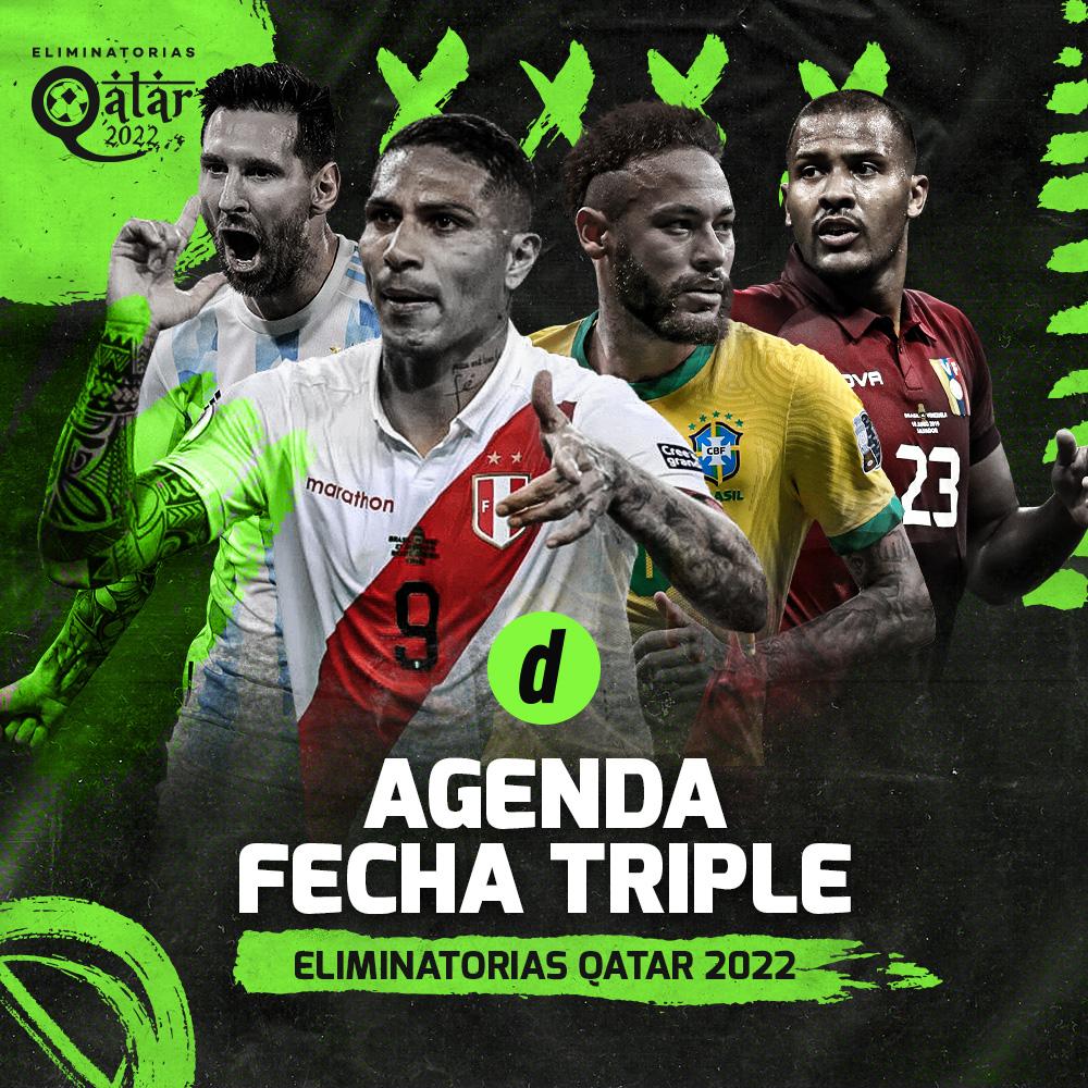 Eliminatorias Qatar 2022: conoce todos los partidos de esta fecha triples