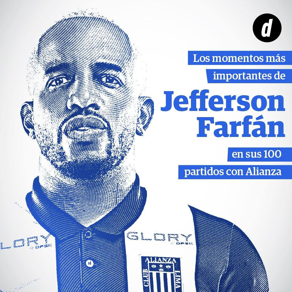 Jefferson Farfán y sus 100 partidos con Alianza Lima