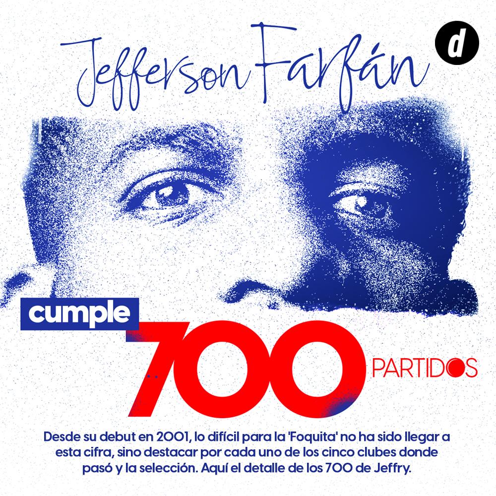 Jefferson Farfán cumple 700 partidos