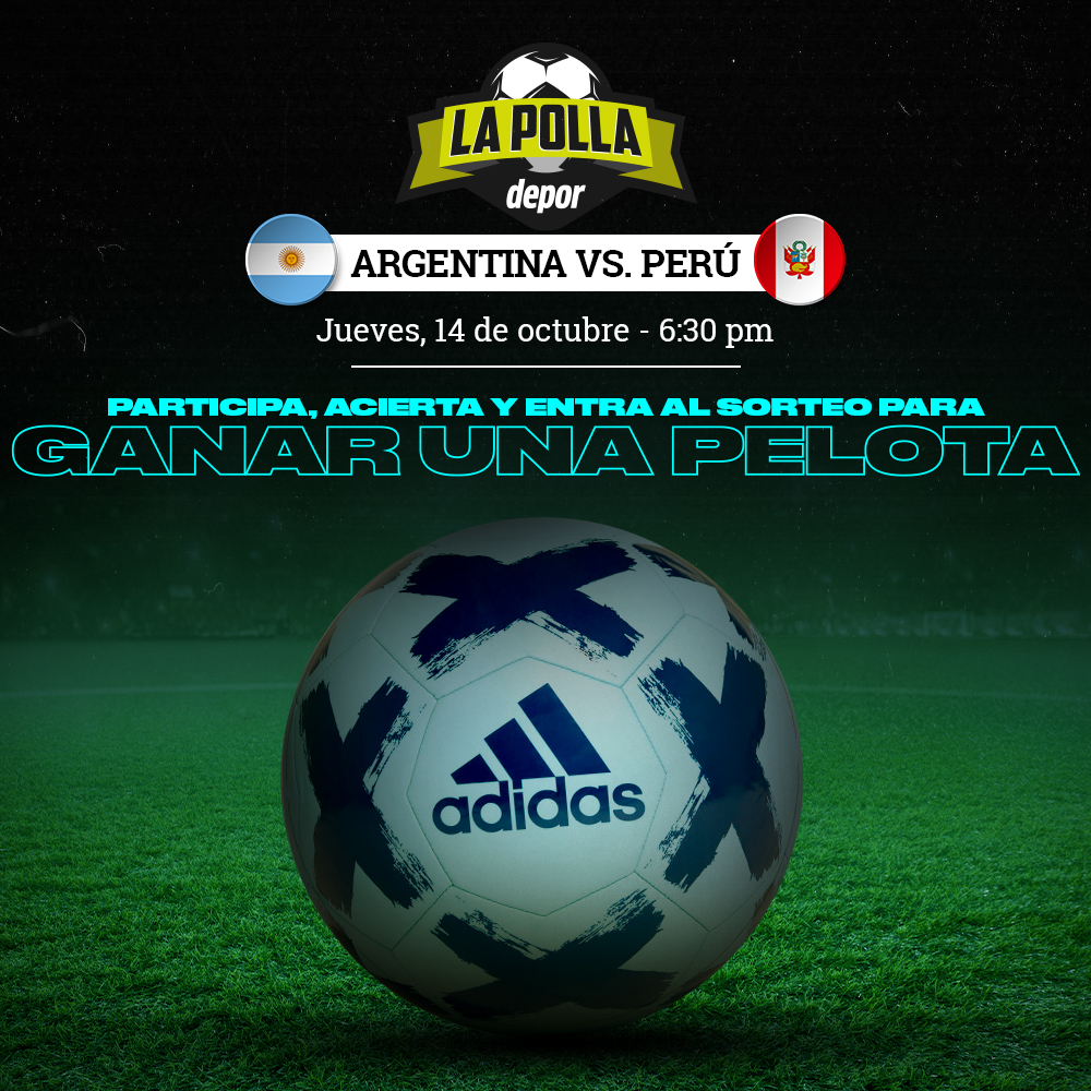 Polla Eliminatorias Qatar 2022 Argentina vs. Perú