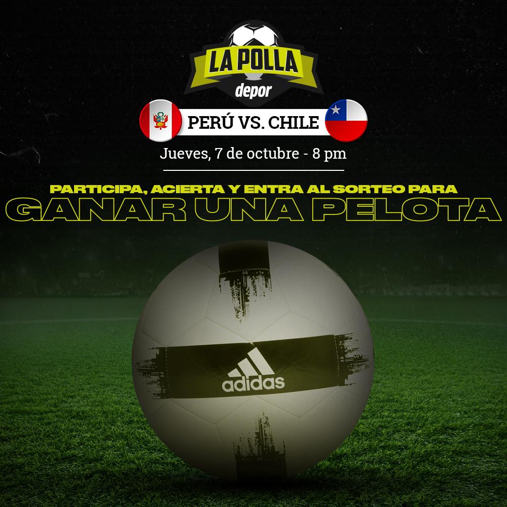 Polla Eliminatorias Qatar 2022 Perú vs. Chile