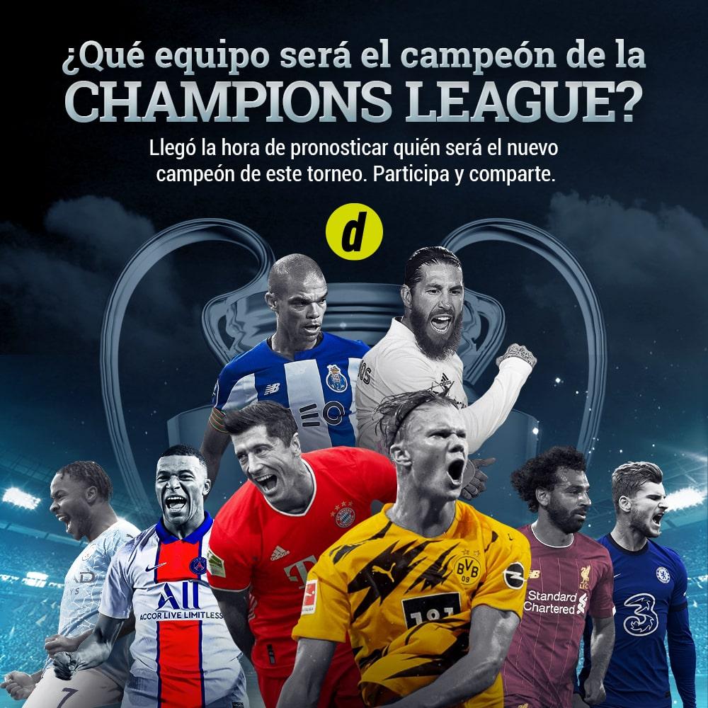 ¿Qué equipo será el campeón de la Champions League?