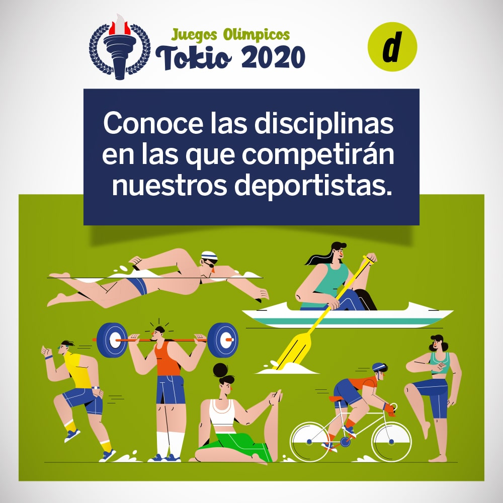 Tokio 2020: ¿Cuáles son las disciplinas en las que participan nuestros representantes?