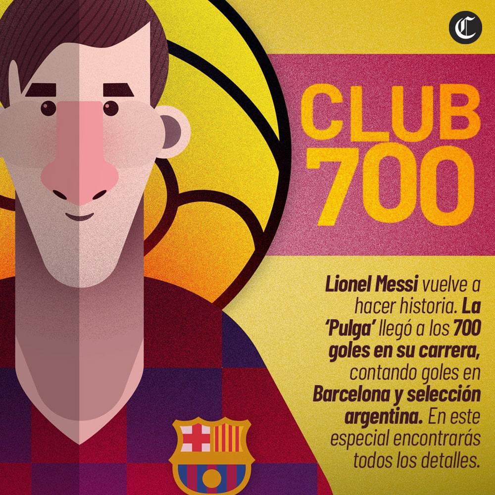 700 goles de Messi