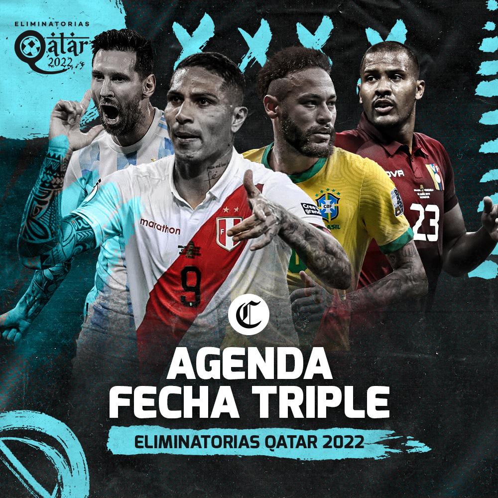 Agenda Fecha Triple - Eliminatorias Qatar 2022