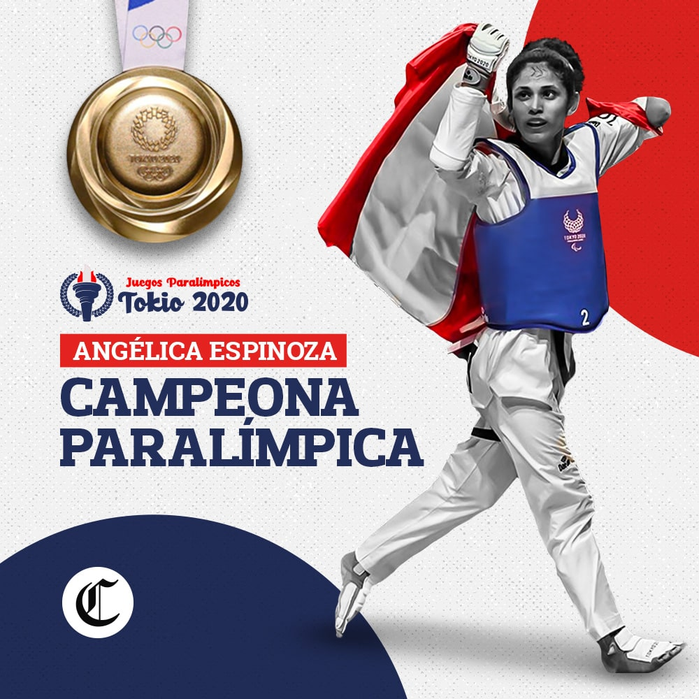 Angélica Espinoza: medalla de Oro en Taekwondo Paralímpico Tokio 2020
