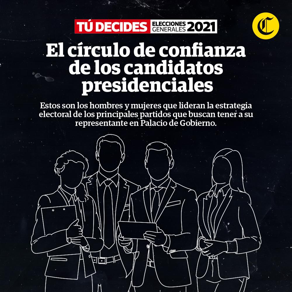 El círculo de confianza de los candidatos presidenciales
