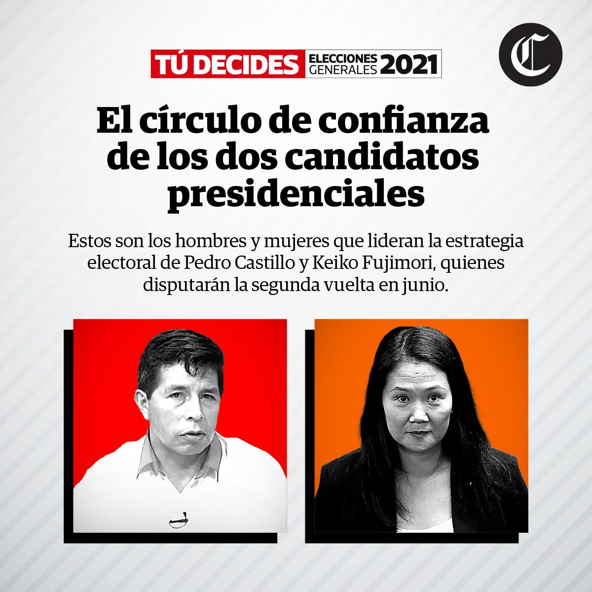 Círculos de confianza: ¿A quiénes escuchan Pedro Castillo y Keiko Fujimori?