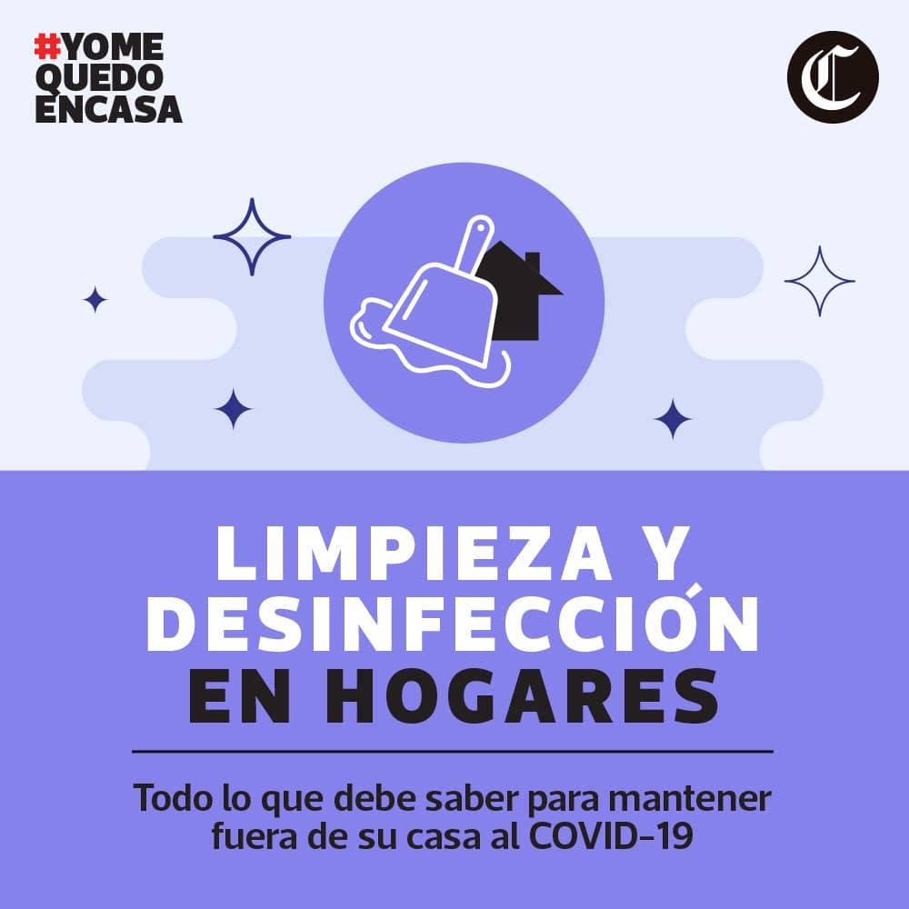 Cómo limpiar y desinfectar un domicilio para evitar contagios de Covid-19
