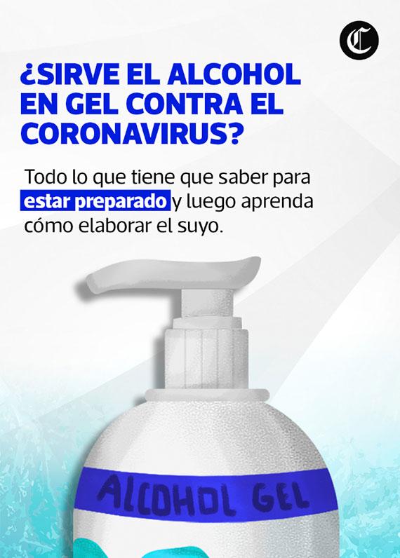 ¿Sirve el alcohol en gel contra el coronavirus?