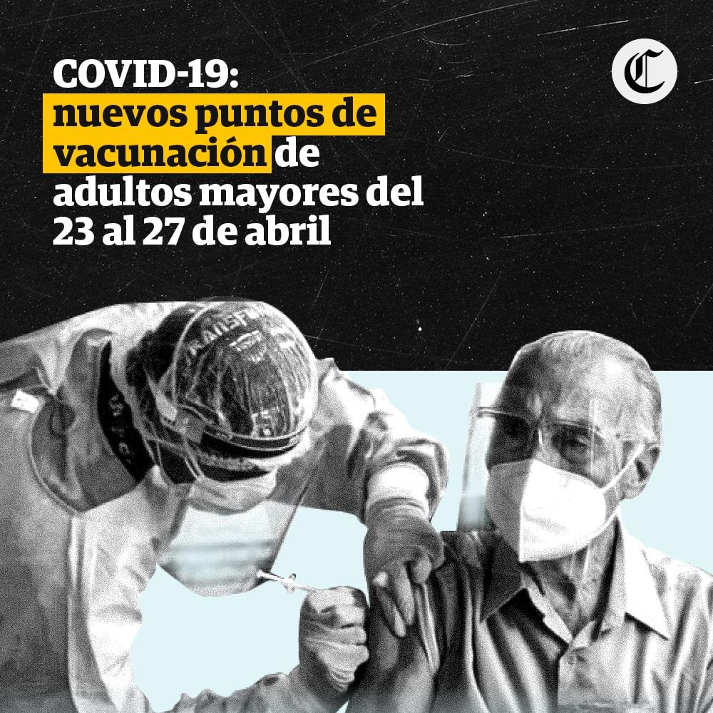 COVID-19: nuevos puntos de vacunación de adultos mayores para este fin de semana
