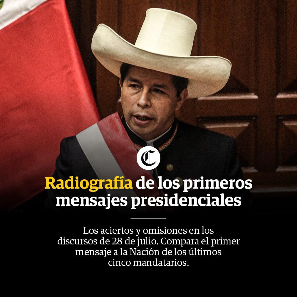 Radiografía de los primeros mensajes presidenciales Perú