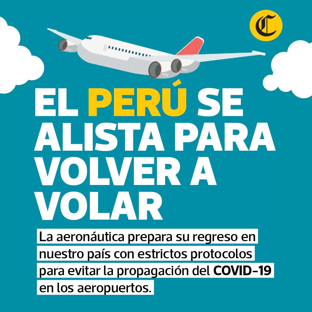 El Perú se alista para volver a volar
