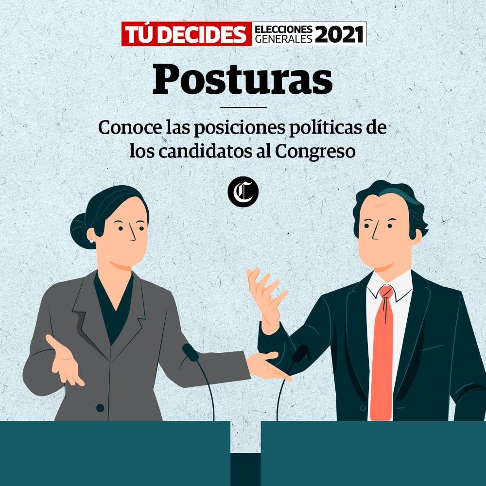 Elecciones 2021: Conoce las posiciones políticas de los candidatos al Congreso
