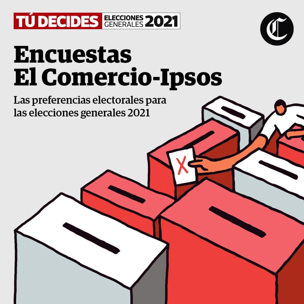 Elecciones generales 2021: Encuestas IPSOS con la evolución de votos de Candidatos a la Presidencia y Congreso | #TúDecides