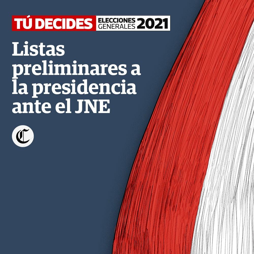 Listas preliminares a la presidencia ante el JNE