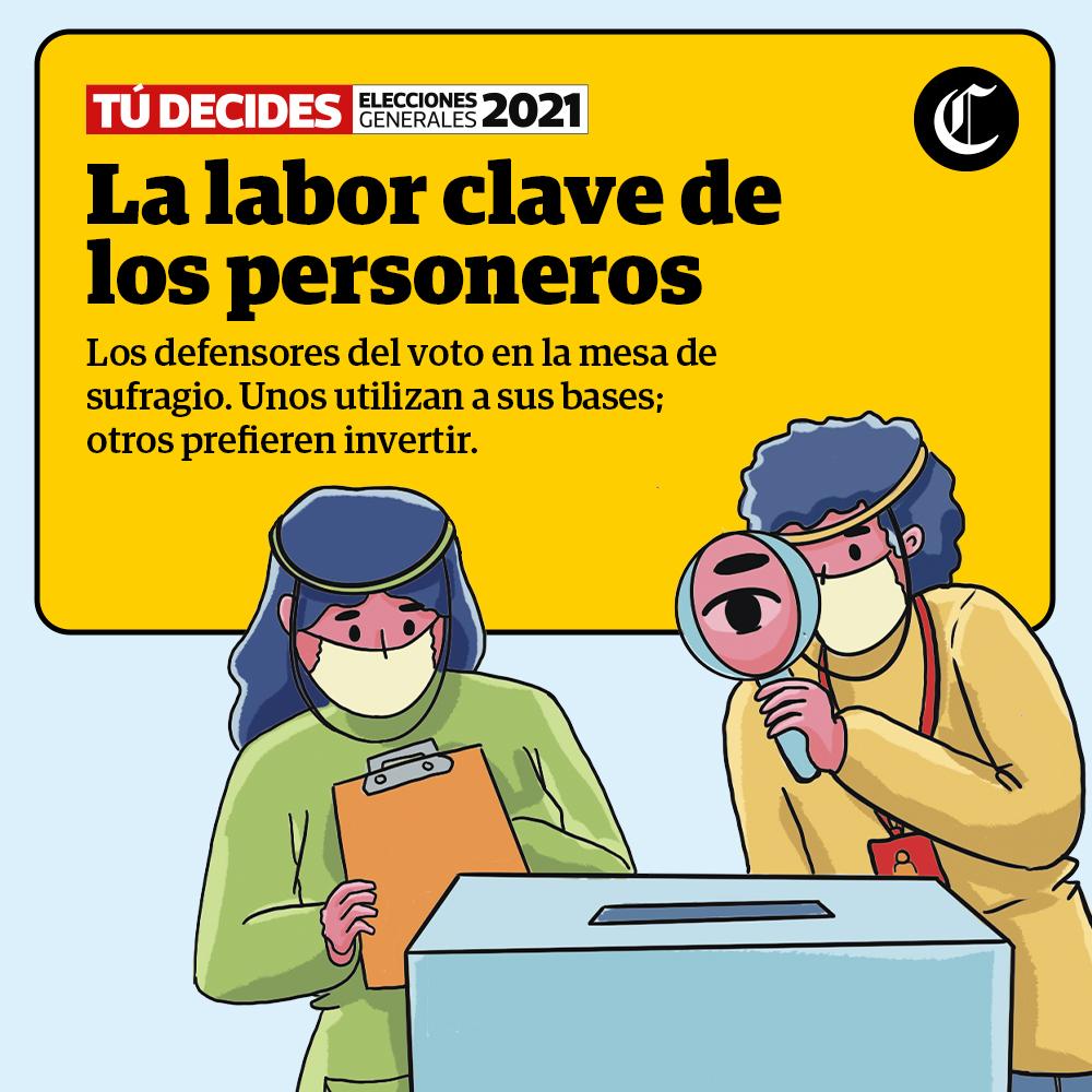La labor clave de los personeros en esta segunda vuelta, Elecciones generales 2021