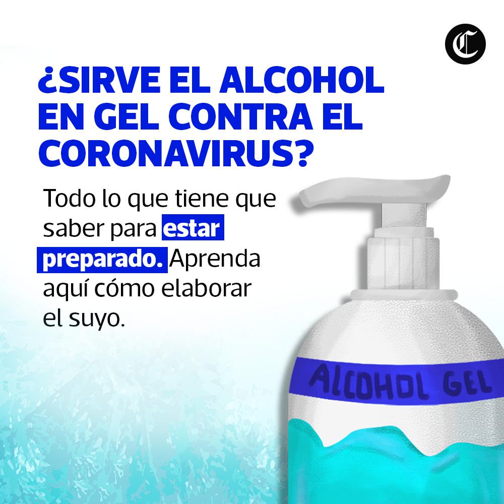Alcohol en gel contra el coronavirus
