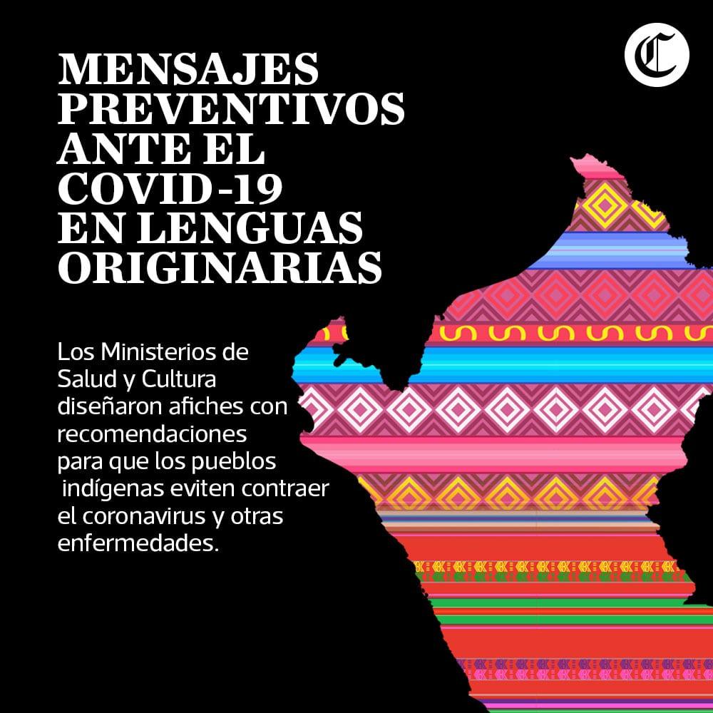 Coronavirus Covid-19: Mensajes preventivos en lenguas originarias