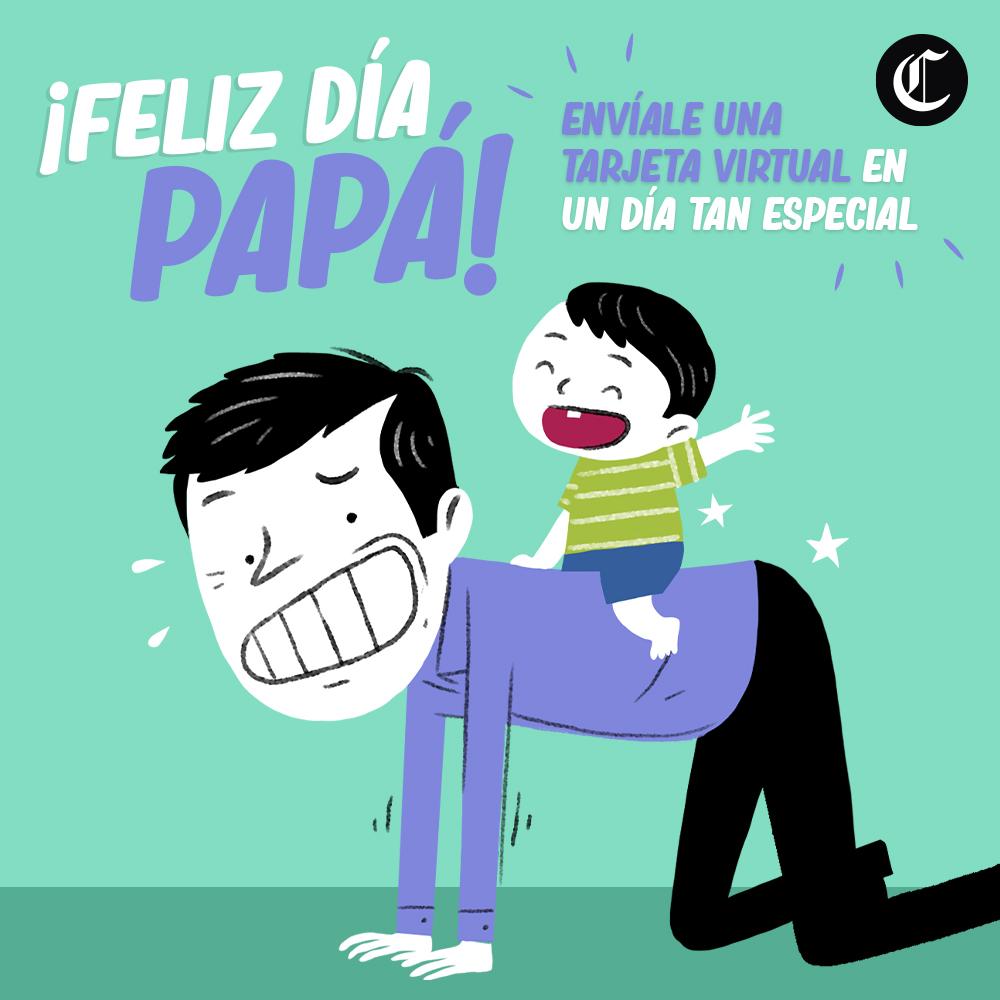 Feliz día del Padre: saluda a tu papá con una tarjeta virtual