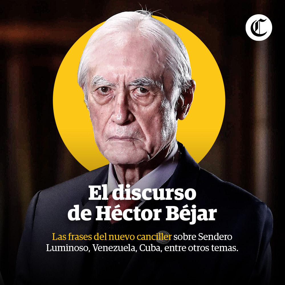 Frases del canciller Héctor Béjar
