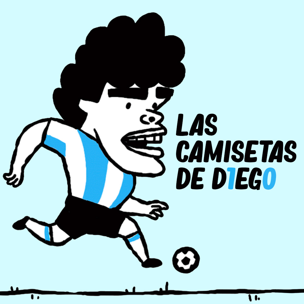 Las camisetas de Maradona