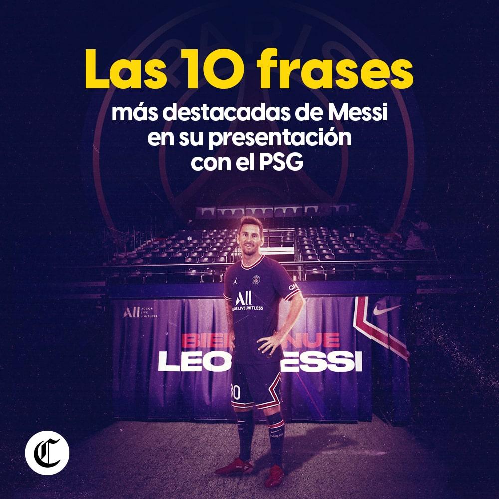 Lionel Messi en PSG: las Mejores frases de su presentación
