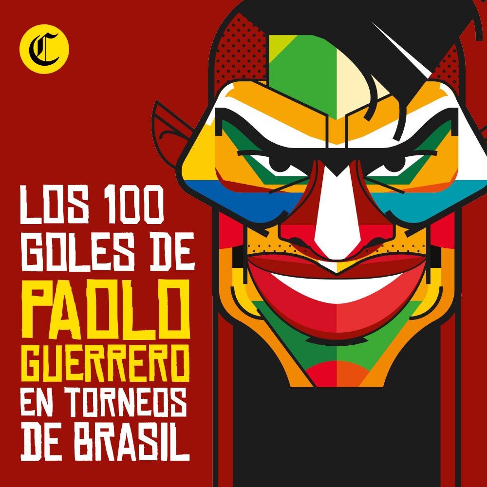 100 goles de Paolo Guerrero en Brasil