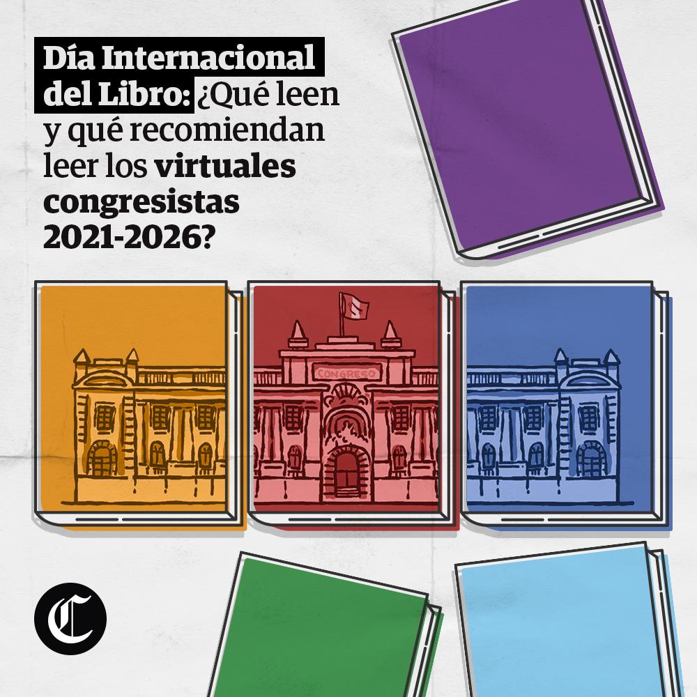 Día Internacional del Libro: ¿Qué leen y qué recomiendan leer los virtuales congresistas?