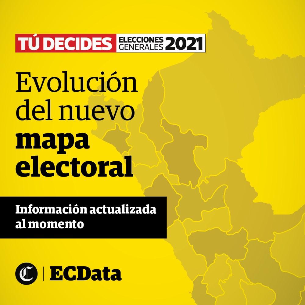 Evolución del nuevo mapa electoral