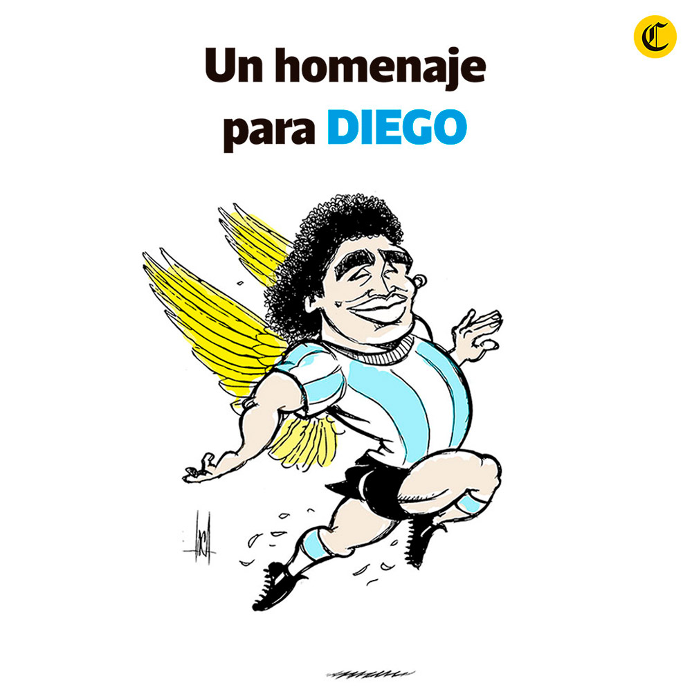 Un homenaje para Maradona
