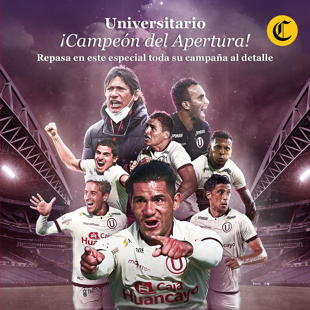Universitario ¡Campeón del Apertura!