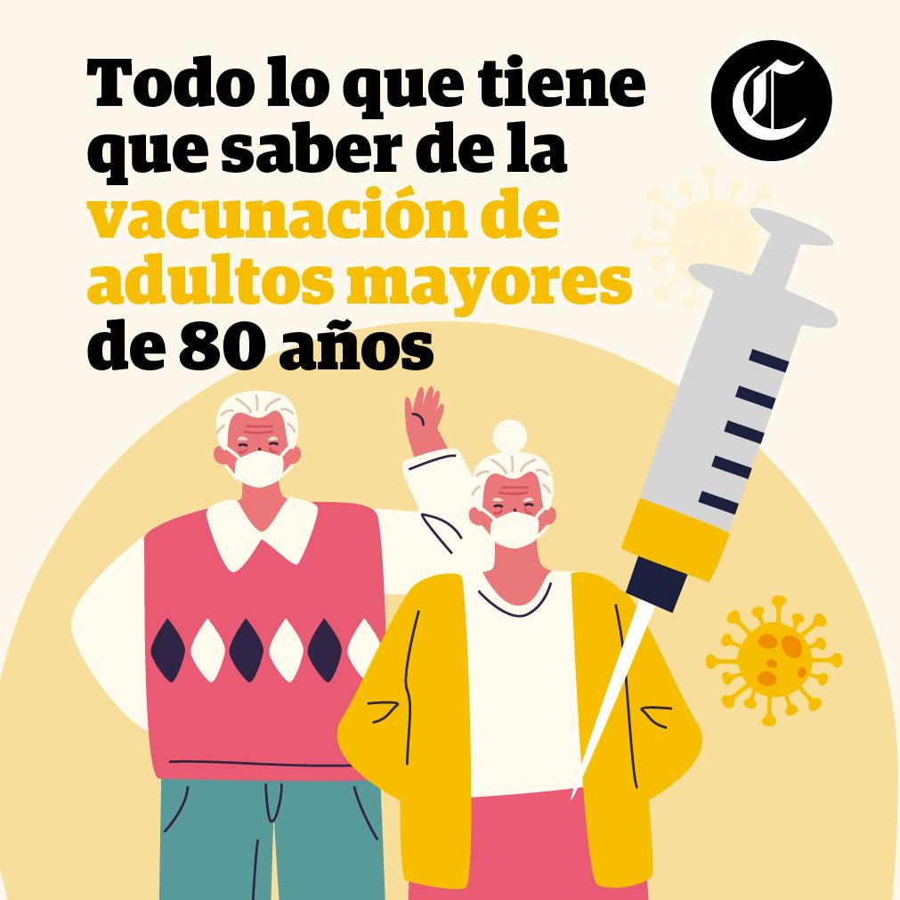 Vacunación de adultos mayores de 80 años