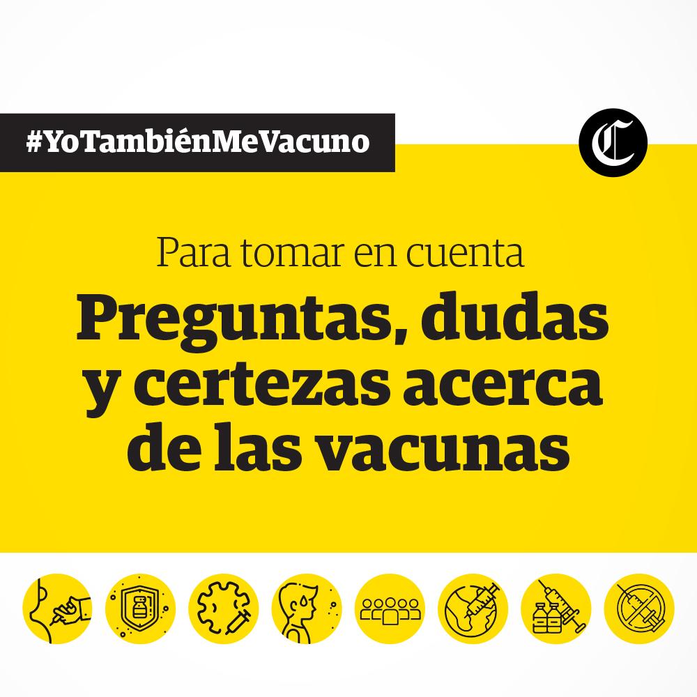 Para tomar en cuenta vacunas COVID-19